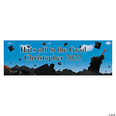 Personalized Celebration Graduation Banner - Medium