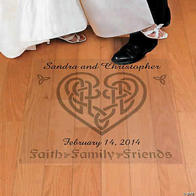 Personalized Celtic Heart Wedding Floor Cling
