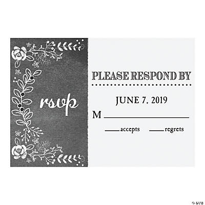 Personalized Chalk Floral Wedding Response Cards