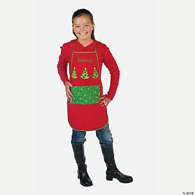 Personalized Child's Christmas Aprons