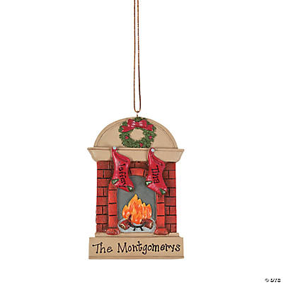 Personalized Christmas Ornament - Two Stockings