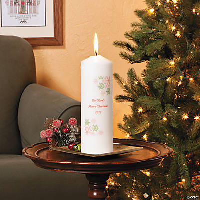 Personalized Christmas Pillar Candle