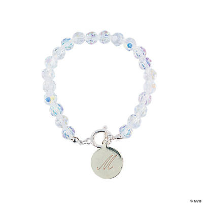 Personalized Clear Crystal Beaded Bracelet