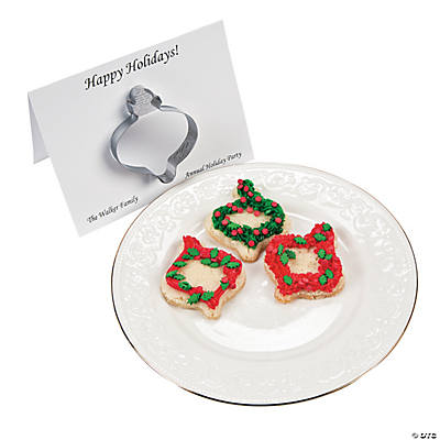 Personalized Cookie Cutter Ornaments on a Card