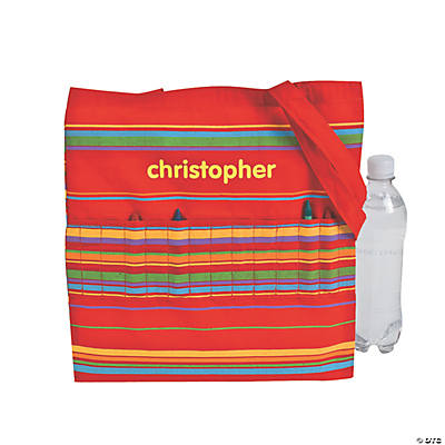 Personalized Crayon Tote