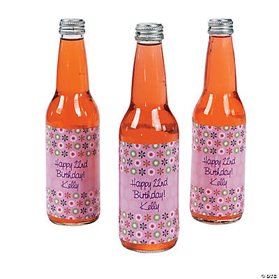 12 Personalized Darling Daisy Bottle Labels