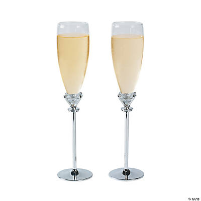 Personalized Diamond Champagne Flutes