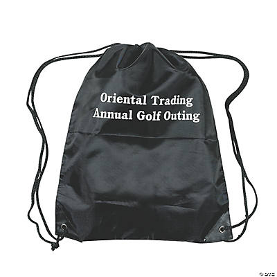 Personalized Drawstring Backpacks - Black