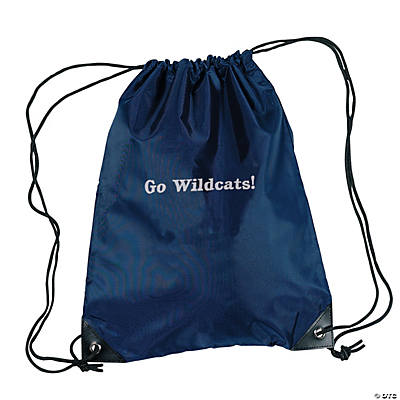 Personalized Drawstring Backpacks - Navy Blue