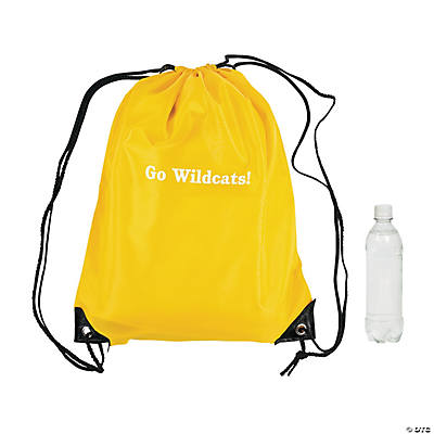 Personalized Drawstring Backpacks - Yellow