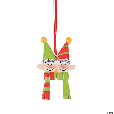 Personalized Elves Christmas Ornament - Two Elves