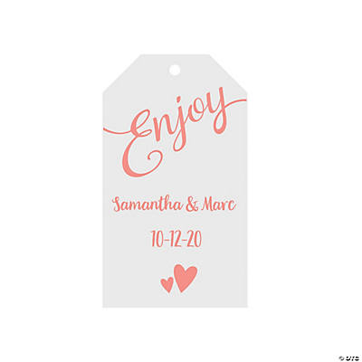 Personalized Enjoy Favor Tags