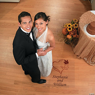 Personalized Fall Wedding Floor Cling