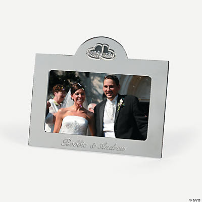 Personalized Floating Crystals Picture Frame