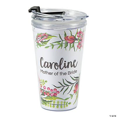 Personalized Floral Travel Mug