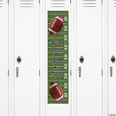 Personalized Football Locker Banner