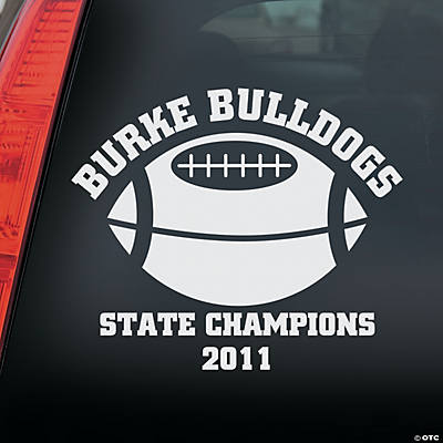 Personalized football window cling