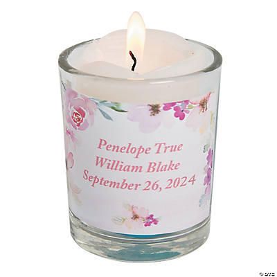 Personalized Garden Party Votive Candles