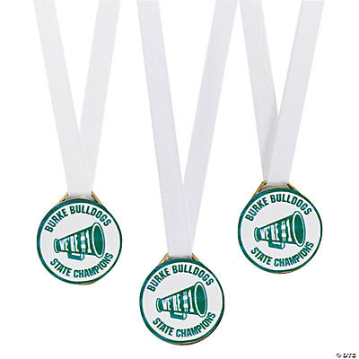 Personalized Green Team Spirit Medals