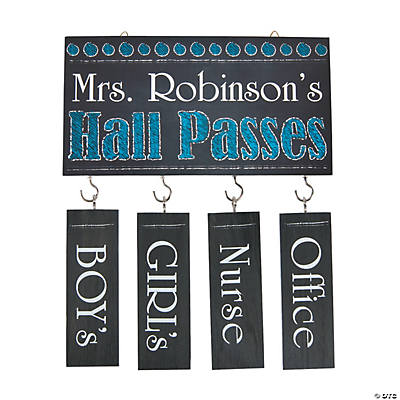 Personalized Hall Pass Set