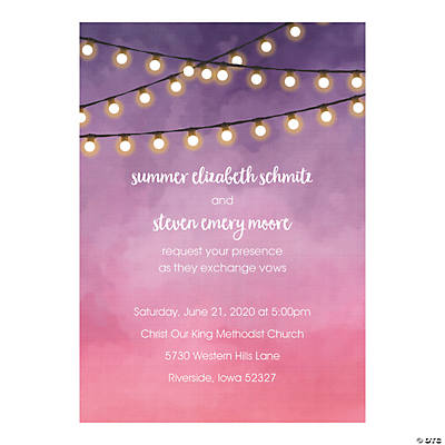 Personalized Hanging Lights Invitations