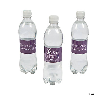 Personalized Happily Ever After Water Bottle Labels