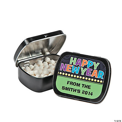 "Personalized ""Happy New Year"" Mint Tins"