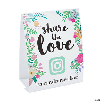 Personalized Hashtag Table Tent Cards