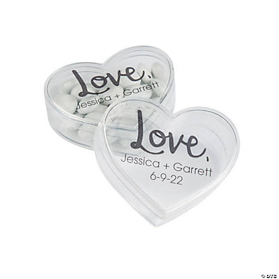 Personalized Heart-Shaped Containers