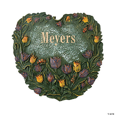 Personalized Heart-Shaped Tulip Stepping-Stone