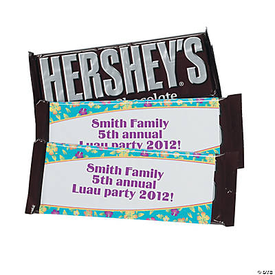 Personalized Island Hibiscus Candy Bars