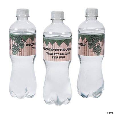 Personalized Jungle Water Bottle Labels
