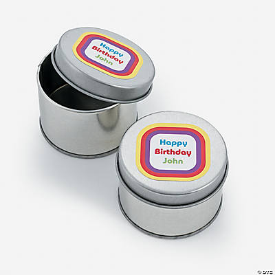 Personalized Kaleidoscope Tins
