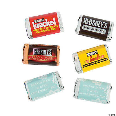 Personalized Lace Pattern Mini Candy Bar Sticker Labels