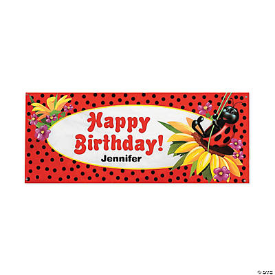 personalized ladybug birthday banner small discontinued
