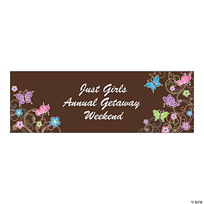 Personalized Large All Aflutter Brown Banner