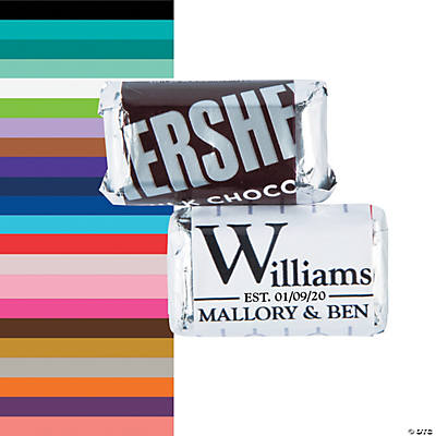 Personalized Last Name Wedding Mini Candy Bar Sticker Labels