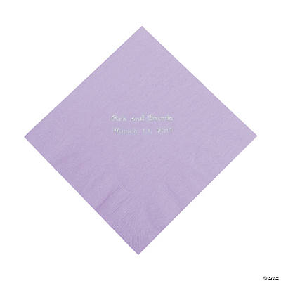 Personalized Lilac Luncheon Napkins