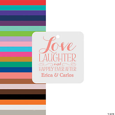 Personalized Love Laughter Favor Tags