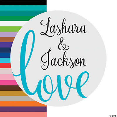 Personalized Love Script Favor Stickers