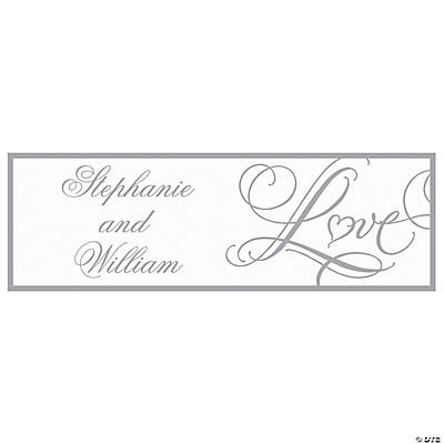 "Personalized ""Love"" Wedding Banner - Medium"