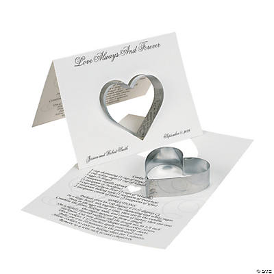 Personalized Love Wedding Cookie Cutters with Card