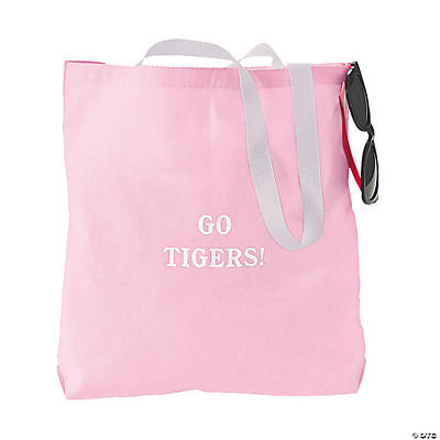 Personalized Medium Light Pink Tote Bags