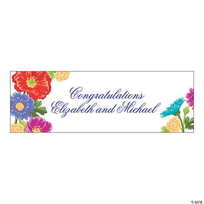 Personalized Medium Love in Bloom Banner
