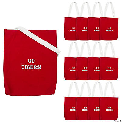 Personalized Medium Red Tote Bags