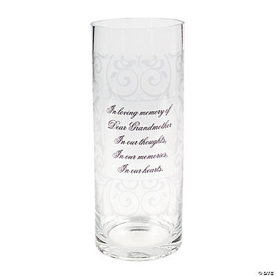 Personalized Memorial Cylinder Vase