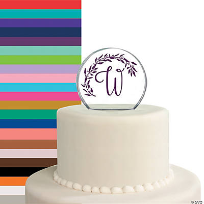 Personalized Monogram Round Cake Topper