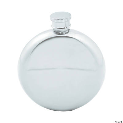 Personalized Monogram Stainless Steel Round Flask