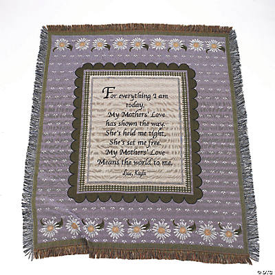 "Personalized ""Mothers"" Tapestry Throw"
