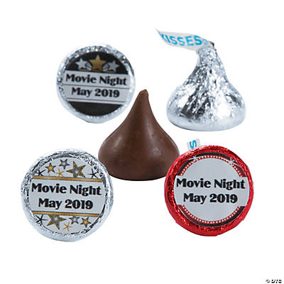 Personalized Movie Night Hershey's® Kisses® Stickers